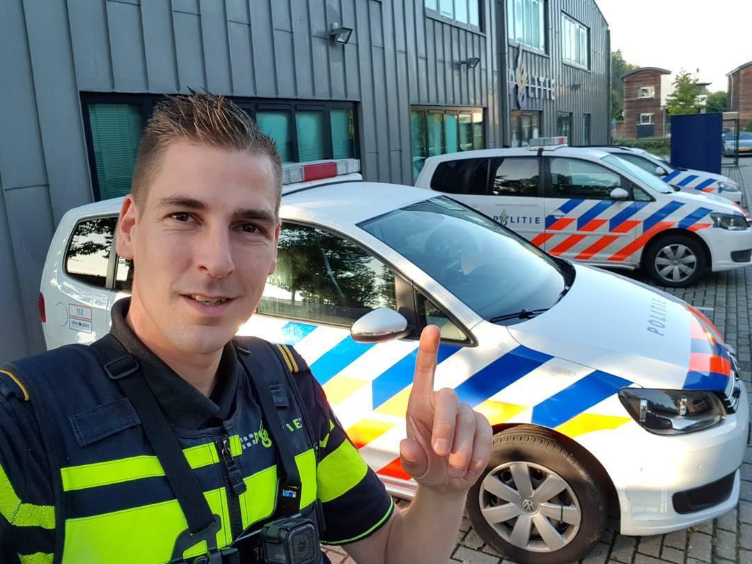 Politievlogger Jan-Willem Schut