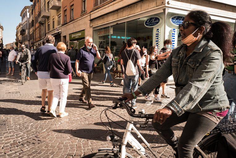 Het centrum van Rimini, waar veel middenstanders het van toeristen moeten hebben.  Beeld Nicola Zolin