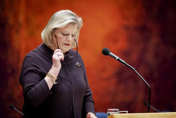 Ankie Broekers-Knol (VVD), staatssecretaris van Justitie en Veiligheid in de Tweede Kamer.