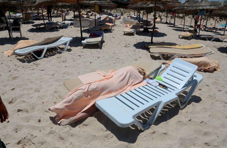 De schietpartij in de Tunische badplaats Sousse van vorig jaar viel ook tijdens de ramadan. Beeld AP