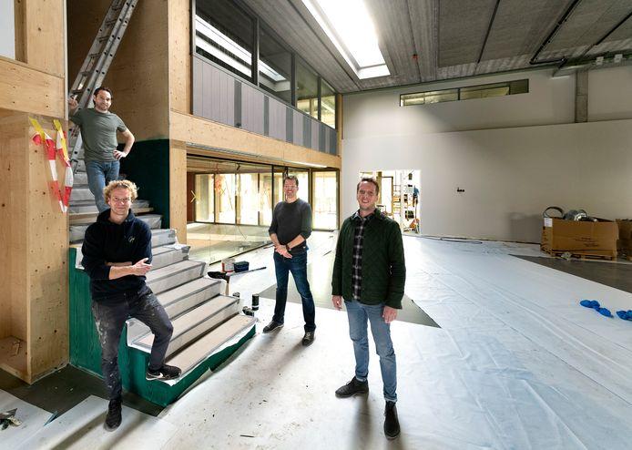 René Vullings, Guy Verbeek, Geert Willems en Bart Waasdorp (vlnr) in Het Atelier in Helmond.