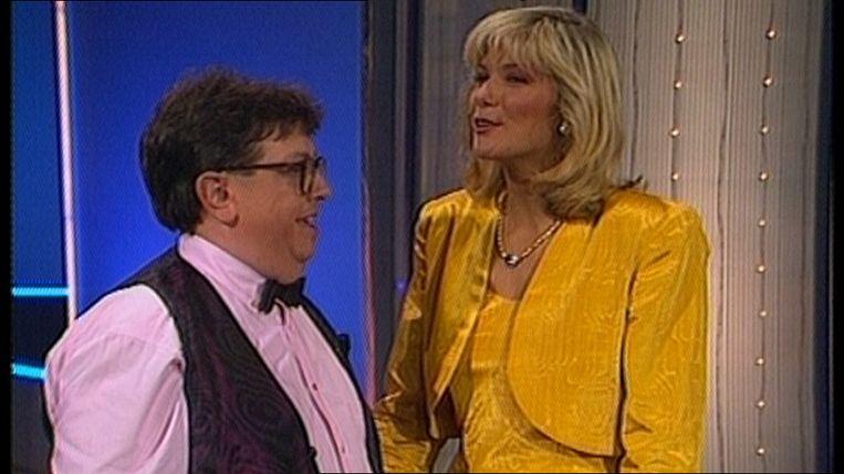 Luc Caals en Lynn Wesenbeek tijdens de Nu of Nooit Show