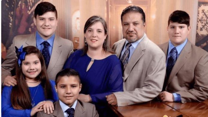 Lydia en Lawrence met hun kinderen