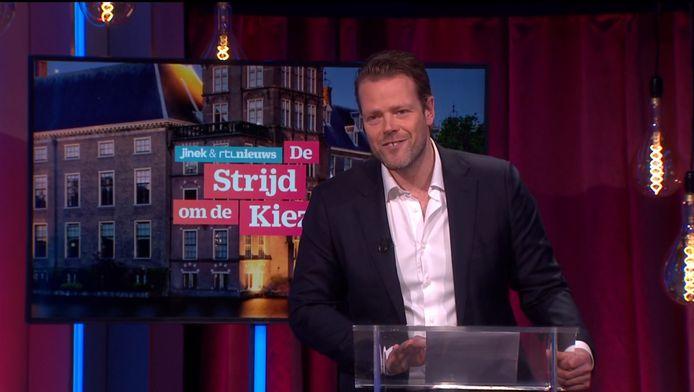 Martijn Koning tijdens de 'roast'.