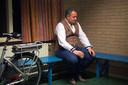 Maikel Harte in concentratie in de kleedkamer van gemeenschapscentrum de Kauter.