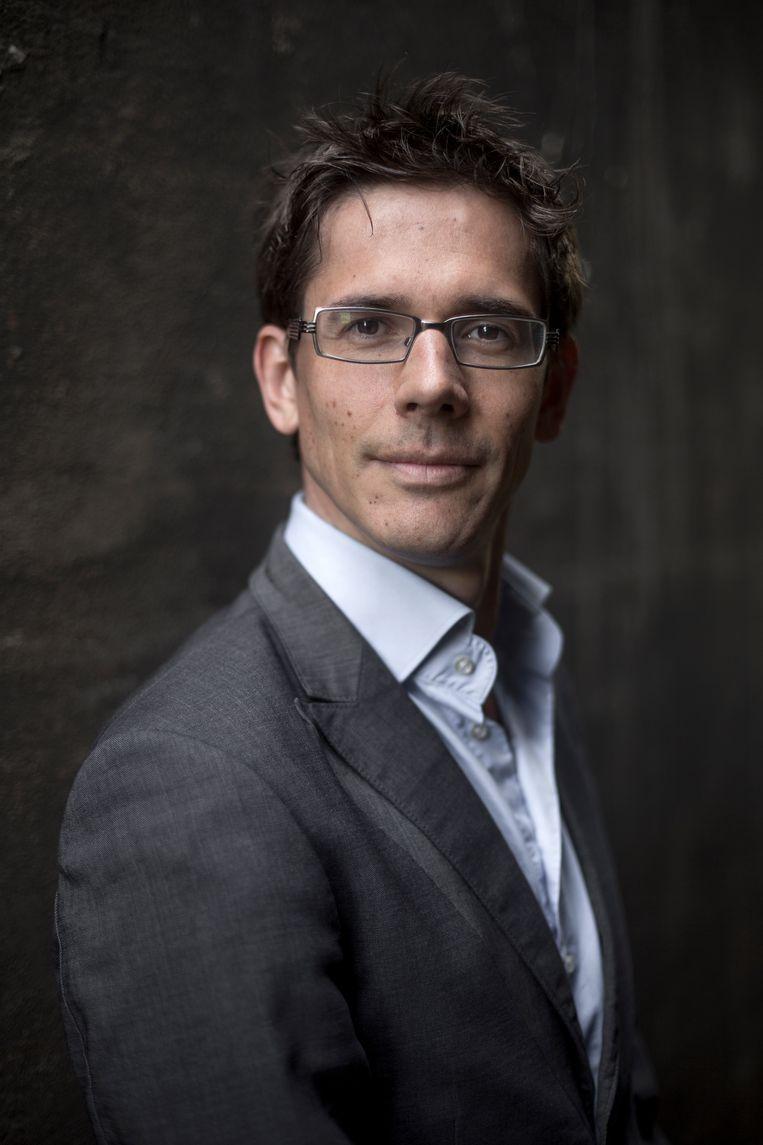 Bas Eickhout, van GroenLinks en de Triodosbank, vindt het een slecht idee om aardgas tot groene brandstof te bestempelen.  Beeld Mike Roelofs