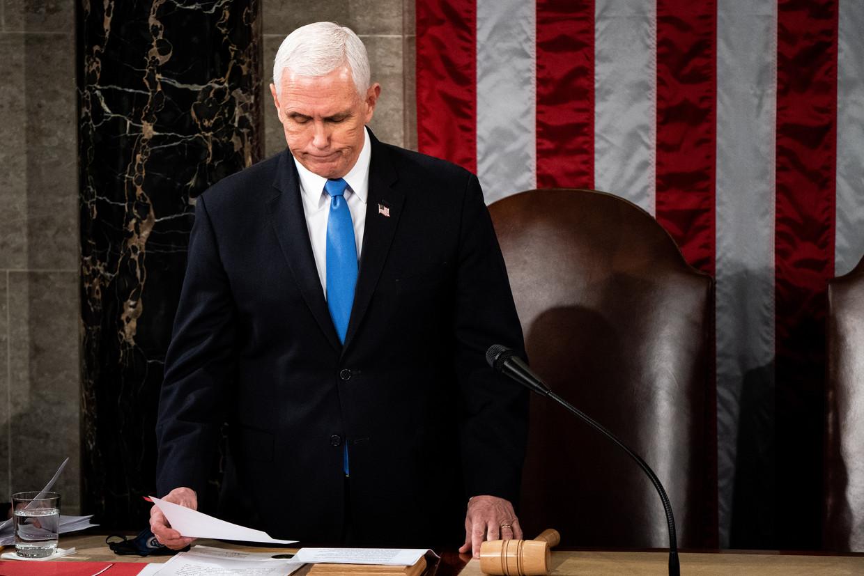 Amerikaans vicepresident Mike Pence. Beeld EPA