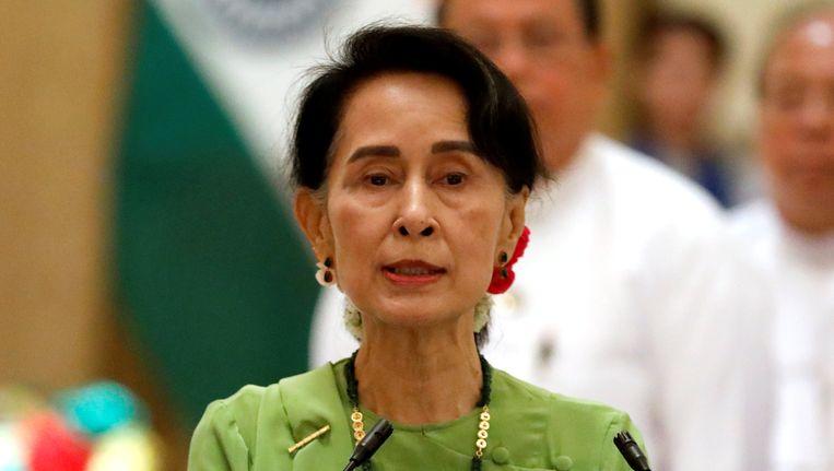 Premier van Myanmar Aung San Suu Kyi. Beeld reuters