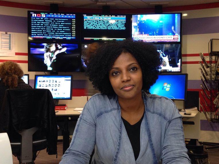 Seada Nourhussen op de redactie van Trouw (archieffoto) Beeld Jan Kruidhof
