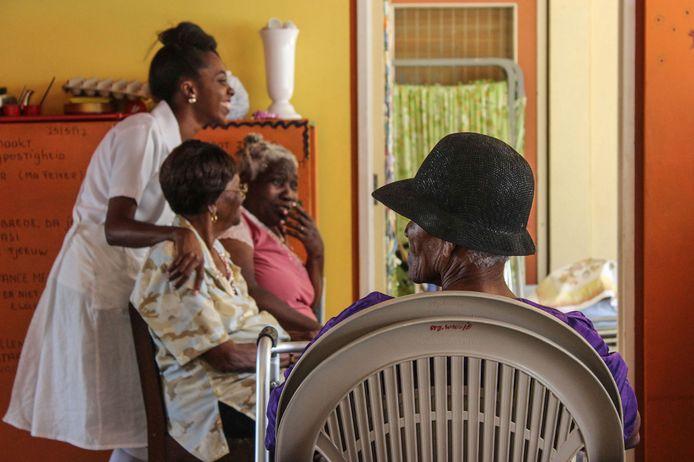 Woonzorgvoorziening van Stichting Wiesje voor mensen met dementie in Suriname.