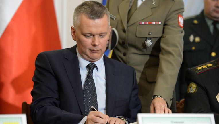 De Poolse minister van Defensie Tomasz Siemoniak. Beeld epa