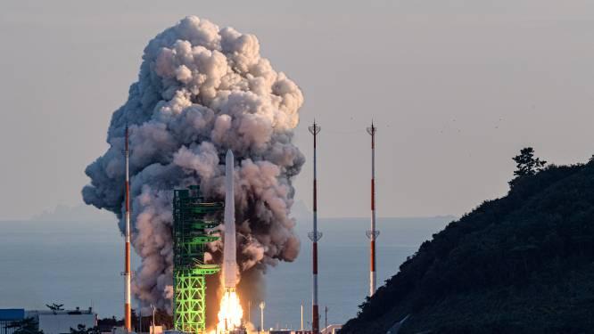 Lancering eerste volledig door Zuid-Korea gemaakte draagraket maar half gelukt