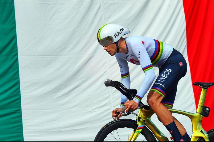 Filippo Ganna, wereldkampioen tijdrijden.
