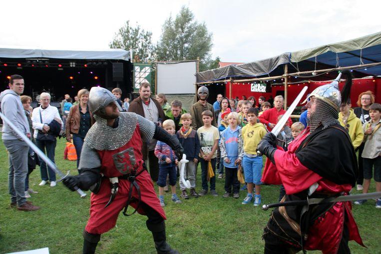 De Ridders van Pendragon in actie tijdens Krock.