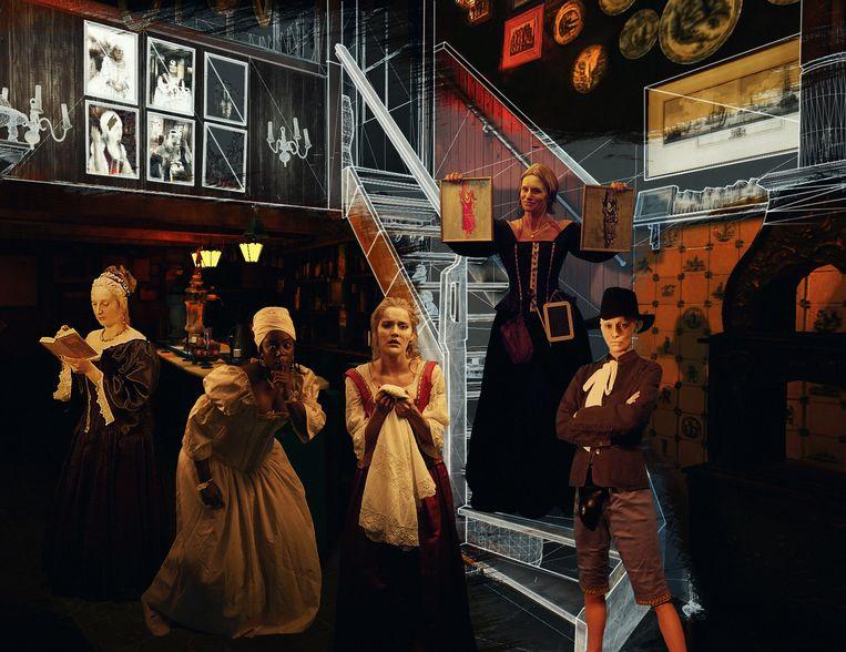 Waan je in een driedimensionale VR-wereld in filmmuseum Eye. Beeld Eyefilm /Angels of Amsterdam VR