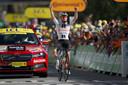 Hirschi wint een etappe in de Tour de France.