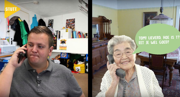 Video-project Stutt, met Tom Berserik en zijn oma.