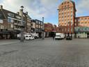 Het Statenplein bleef vrijdag rustig vanwege het cancelen van de markt.