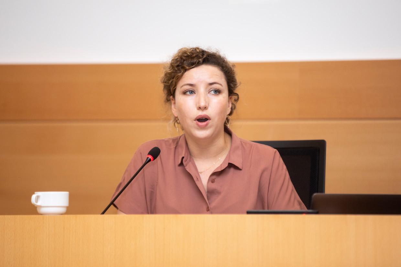 Staatssecretaris Sarah Schlitz (Ecolo). Beeld BELGA