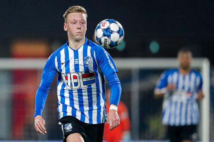 Brian De Keersmaecker in actie bij FC Eindhoven.