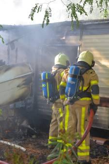 Stacaravan door brand verwoest in Ruurlo