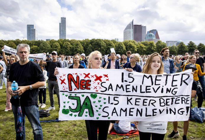 Op 23 augustus werd er in Den Haag nog geprotesteerd tegen de coronamaatregelen.