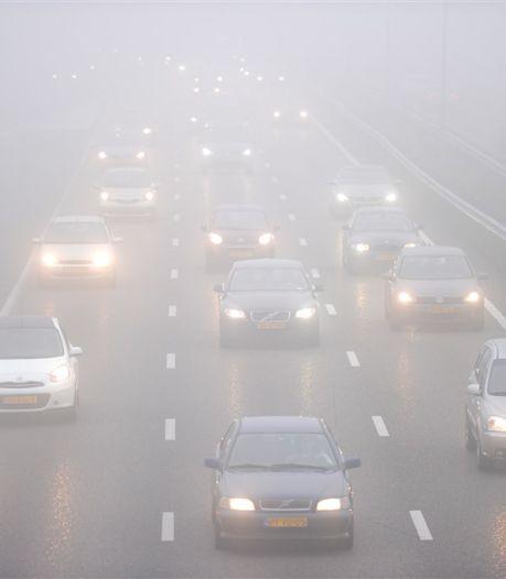 Opgelet: plaatselijk dichte mist in Overijssel en Gelderland, code geel afgegeven