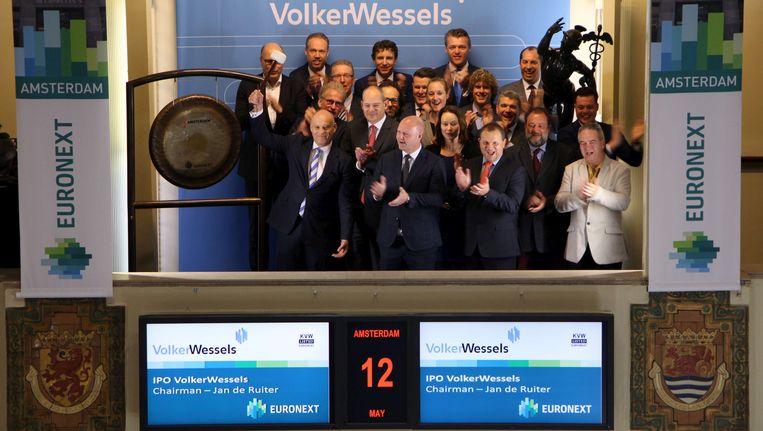 Bij de beursgang van VolkerWessels Beeld Euronext Amsterdam