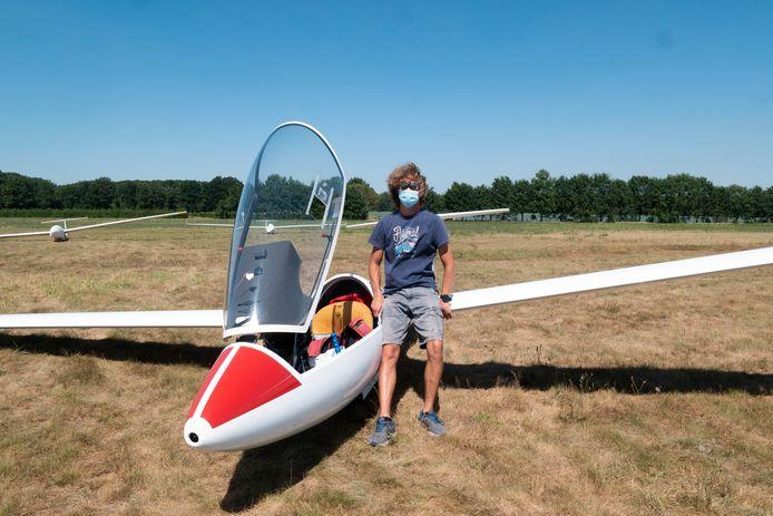 Net geen 1000 kilometer met een zweefvliegtuig.