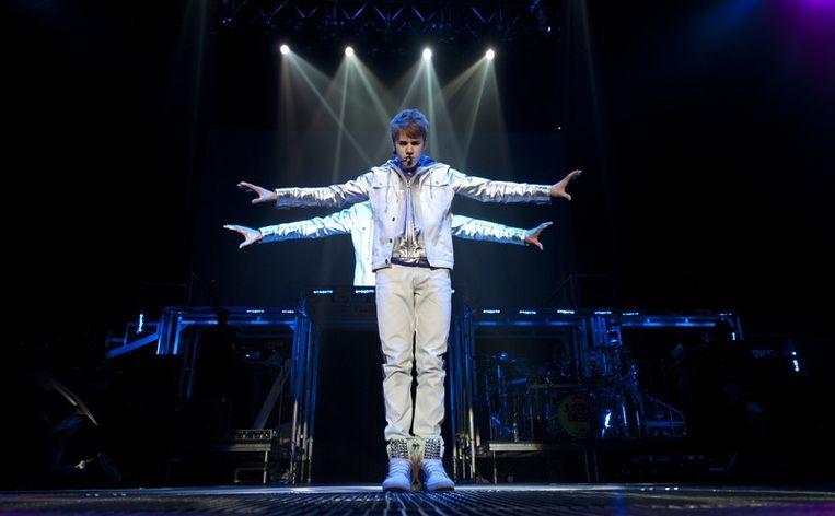 Justin Bieber zelf, in Ahoy. © anp Beeld