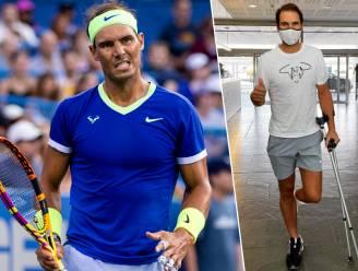"""Rafael Nadal deelt foto op krukken: """"Heb nieuwe behandeling moeten ondergaan en zal daardoor nog later terugkeren op het tennisveld"""""""