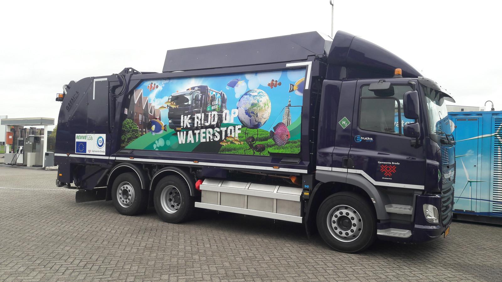 In Breda rijdt al een vuilniswagen op waterstof.