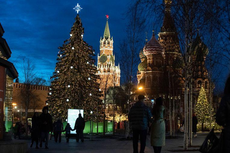 De voorbije weken waren de temperaturen bijzonder zacht in Moskou. De sneeuw die viel, bleef dus nauwelijks liggen.