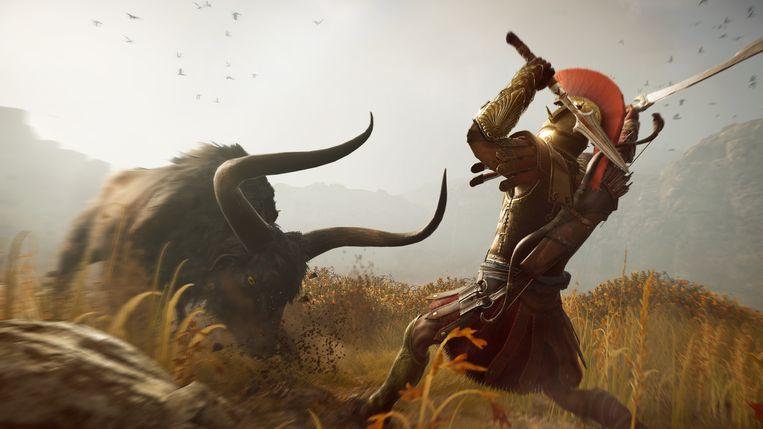 De setting van 'Assassin's Creed: Odyssey', de Peloponnesische Oorlogen, belooft heel wat epische actie. Beeld Ubisoft