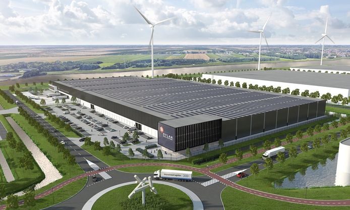 Een impressie van het toekomstige distributiecentrum van Dylan Steel Solutions op Distripark Dordrecht.
