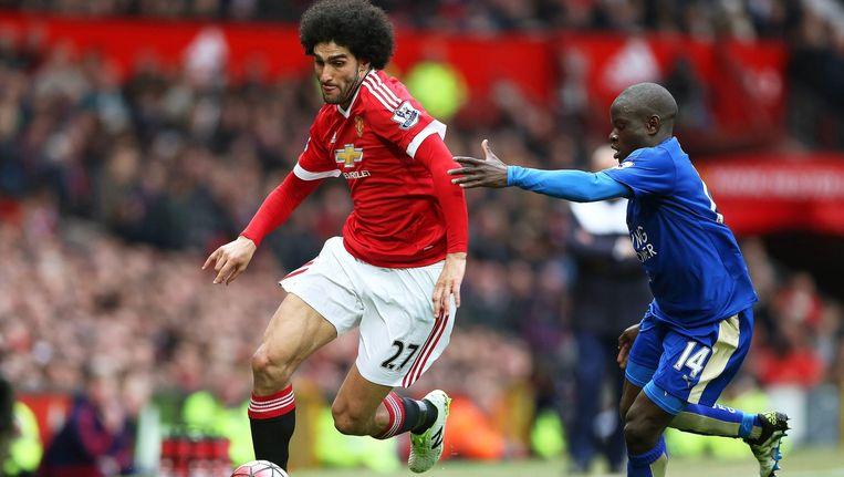 Manchester United hield de gedoodverfde kampioen Leicester City op 1-1. Beeld epa