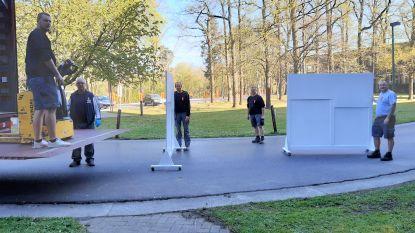 Schakelzorgcentrum op campus Pellenberg in gereedheid gebracht om patiënten op te vangen