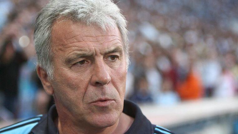 Eric Gerets in zijn tijd als coach van Olympique Marseille. Foto EPA Beeld