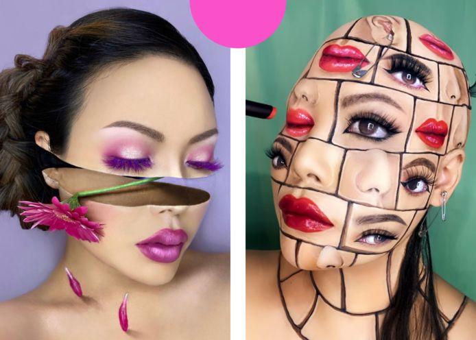 Mimi Choi met haar make-up art.