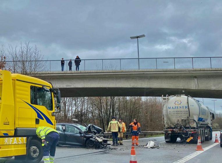 Op de E313 was er woensdagnamiddag hinder door een verkeersongeval.