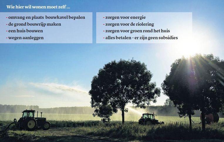 Nu nog is Oosterwold, een gebied van 43 vierkante kilometer tussen Almere en Zeewolde, voornamelijk boerenland. Beeld Patrick Post