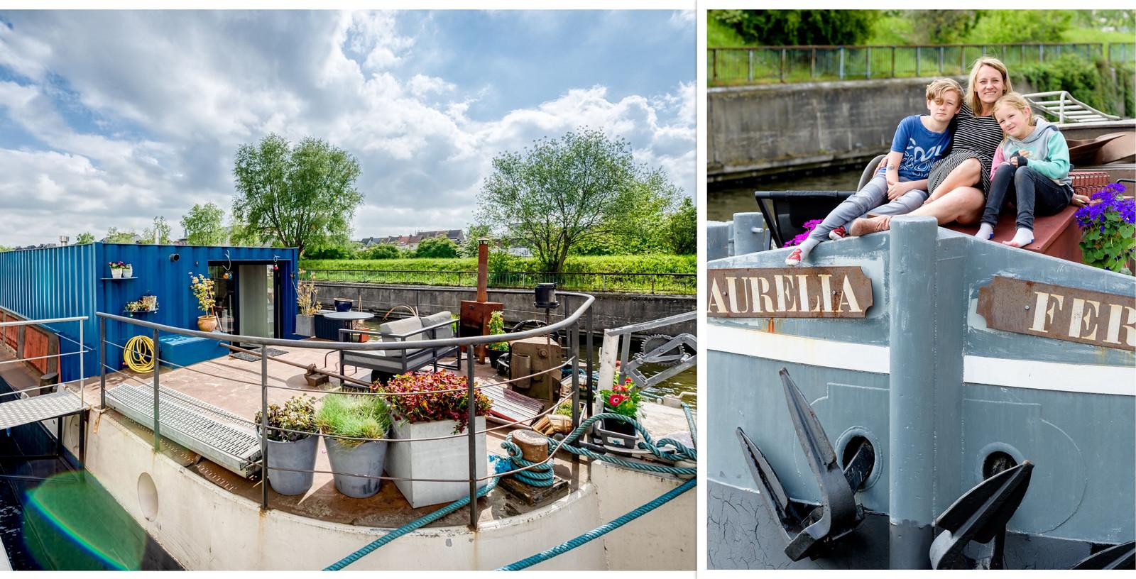De woonboot, die vlak bij de Gentse Dampoort ligt, was vroeger een vrachtschip.