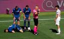 Kuipers tijdens de wedstrijd tussen Spanje en Slowakije.