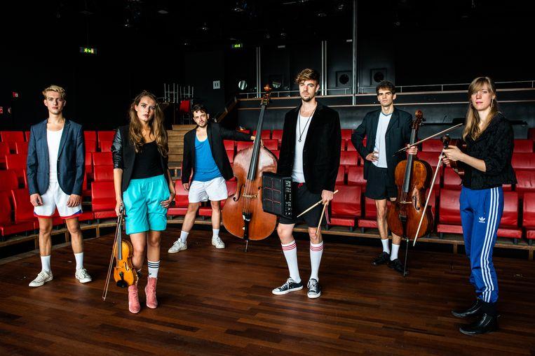 Muziekensemble Ikarai in het Amsterdamse Bimhuis.  Beeld Simon Lenskens