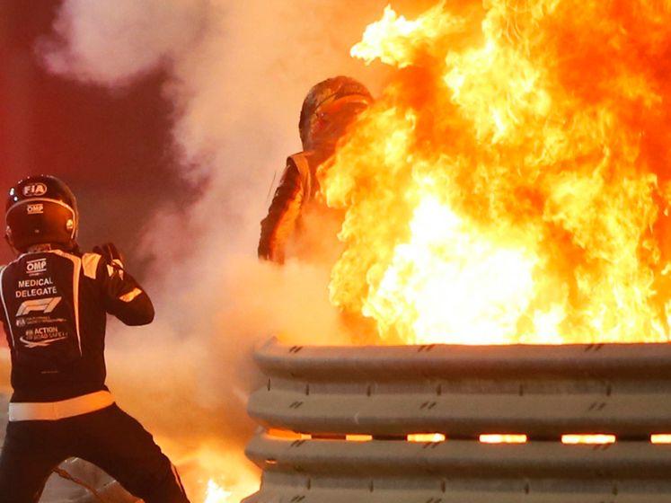 Bijna een halve minuut in een oven van 450 graden, maar toch klauterde hij als uit het niets uit wrak: hoe kon Grosjean zijn horrorcrash overleven?