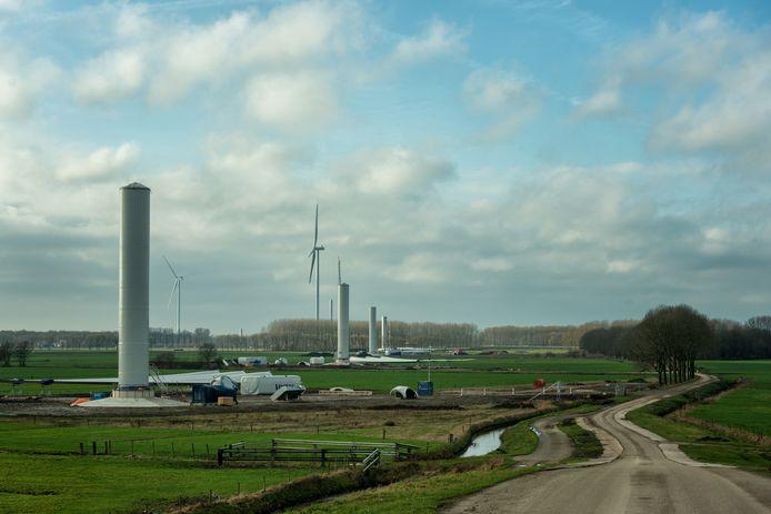 Januari 2020: windpark Deil verrijst