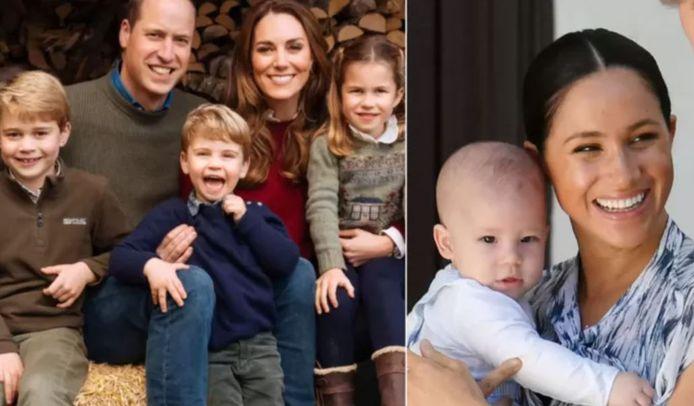 Kate et William avec leurs trois enfants - Meghan et Archie en 2019