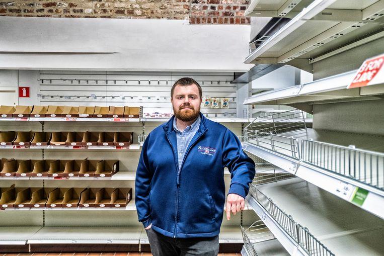 Ryan Pierce van Stonemanor: 'Er is er al heel wat verse vis uit het VK weggerot omdat die niet op tijd getransporteerd kon worden.' Beeld Tim Dirven