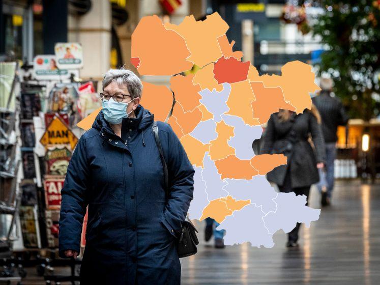 KAART | Storing laat besmettingscijfers in de regio flink kelderen (maar niet overal)