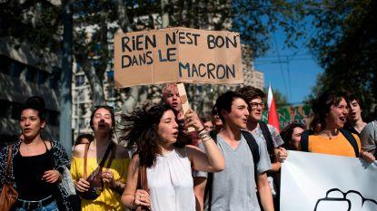Tegenstanders van Macron komen opnieuw op straat